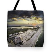 Sunrise Over The Royal Palms Tote Bag