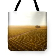 Sunrise Over The Vineyard Tote Bag