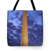 Sunrise Over Washington Monument Tote Bag