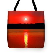 Sunrise Over Whidbey Island Tote Bag