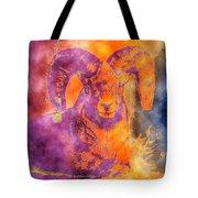 Sunrise Ram Water Color Tote Bag