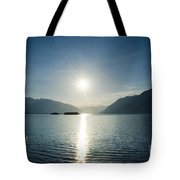 Sunrise Reflected Over An Alpine Lake Tote Bag