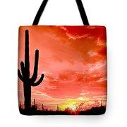 Sunrise Saguaro National Park Tote Bag