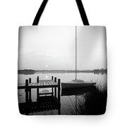 Sunrise Sail Boat Tote Bag