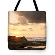Sunrise Seagull On Rocks Tote Bag