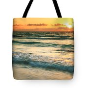 Sunrise Seascape Tulum Mexico Tote Bag