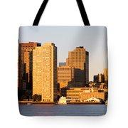 Sunrise, Skyline, Boston Tote Bag