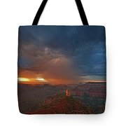 Sunrise Storm North Rim Grand Canyon Arizona Tote Bag