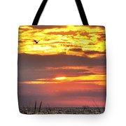 Sunrise Through The Grass Tote Bag