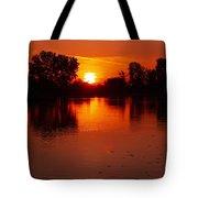 Ottawa River Sunrise Tote Bag