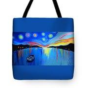 Sunrise At The Lake - Van Gogh Style Tote Bag