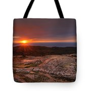 Sunrise View From Cadillac Mountain Tote Bag