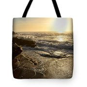 Sunrise Waves On The Rocks By Kaye Menner Tote Bag