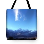 Sunrise White Cloud Tote Bag