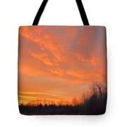Sunrise With Horses Tote Bag