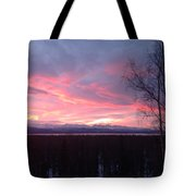 Sunrise With Tree Tote Bag