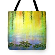 Sunrise With Water Lilies Tote Bag