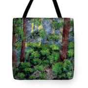 Suns Rays - Forest - Steel Engraving Tote Bag