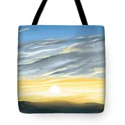 Sunset Above The Hill Tote Bag