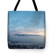 Sunset Above The Smog  Tote Bag