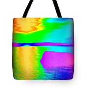 Sunset Abstract Tote Bag