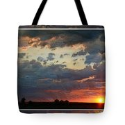 Sunset After A Thunderstorm Photoart Tote Bag