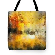 Sunset After The Storm Abstract Tote Bag