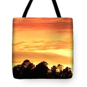 Sunset And Beautiful Clouds Tote Bag