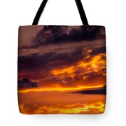 Sunset And Storm Clouds Tote Bag