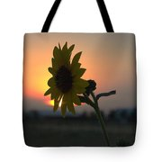 Sunset And Sunflower Tote Bag
