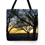 Sunset And Trees Tote Bag