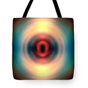 Sunset And Water Spin Art 12 Tote Bag