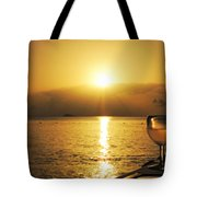 Sunset And Wine Tote Bag