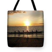 Sunset At Anaeho'omalu Bay Tote Bag