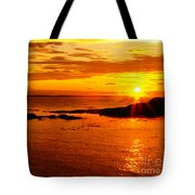 Sunset At Bic Tote Bag
