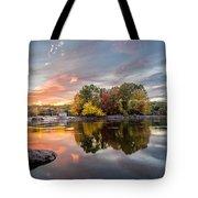 Sunset At Cambridge Reservoir Tote Bag