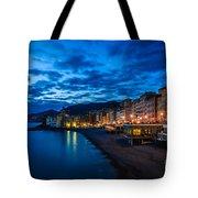 Sunset At Camogli In Liguria - Italy Tote Bag