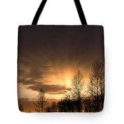 Sunset At Columbia River Gorge Oregon Tote Bag