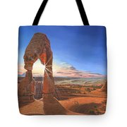 Sunset At Delicate Arch Utah Tote Bag