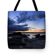 Sunset At Fort Getty Tote Bag