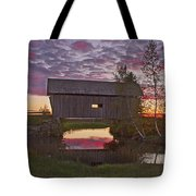 Sunset At Foster Bridge Tote Bag