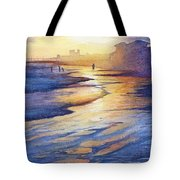 Sunset At Galveston Beach Tote Bag