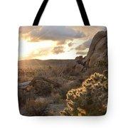 Sunset At Joshua Tree National Park Tote Bag