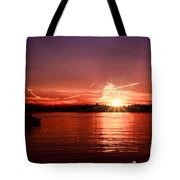 Sunset At Lake Of The Woods Tote Bag