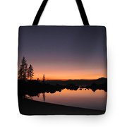 Sunset At Lake Tahoe Tote Bag