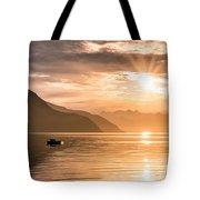 Sunset At Lyngenfjord Tote Bag