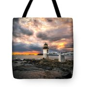 Sunset At Marshall Point Tote Bag