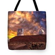 Sunset At Mauna Kea Summit Tote Bag
