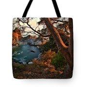 Sunset At Mcway Falls Tote Bag