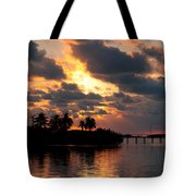 Sunset At Mitchells Keys Villas Tote Bag by Michelle Wiarda